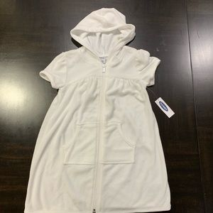 Girl Hooded Swim Cover up Size 4T